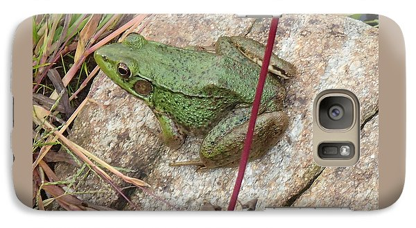 Galaxy Case featuring the photograph Frog by Robert Nickologianis