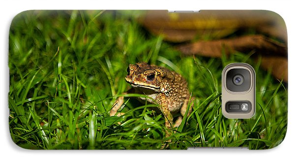 Galaxy Case featuring the photograph Froggie by Mike Lee