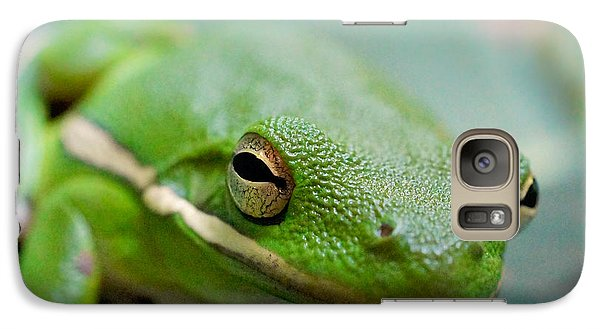 Galaxy Case featuring the photograph Froggy Smile Squared by TK Goforth