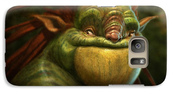 Galaxy Case featuring the digital art Frogman by Aaron Blaise