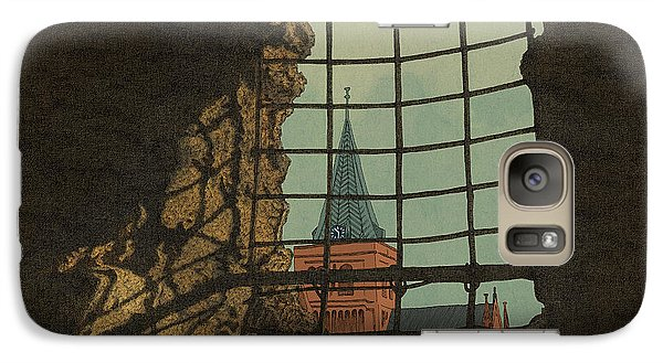 Galaxy Case featuring the drawing From A Castle by Meg Shearer