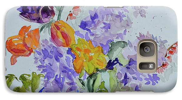 Galaxy Case featuring the painting From Grammy's Garden by Beverley Harper Tinsley