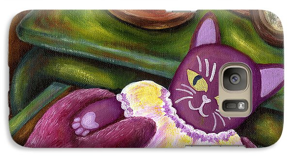 Galaxy Case featuring the painting From Purple Cat Illustration 20 by Hiroko Sakai