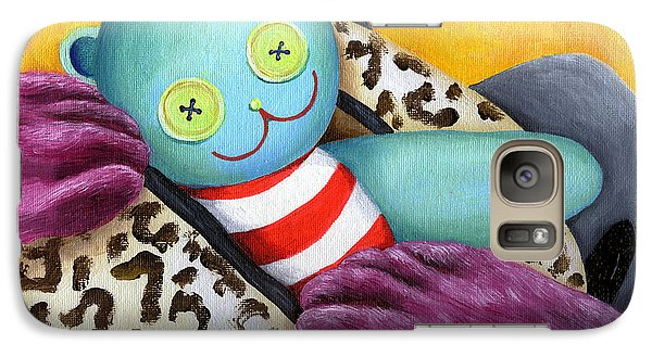 Galaxy Case featuring the painting From Purple Cat Illustration 21 by Hiroko Sakai