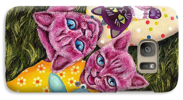 Galaxy Case featuring the painting From Purple Cat Illustration 23 by Hiroko Sakai