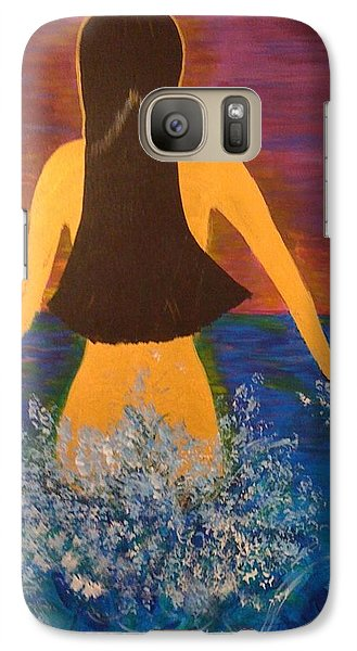 Galaxy Case featuring the painting From The Depths Of The Ocean by Judi Goodwin