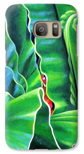 Galaxy Case featuring the painting From The Heart by Angela Treat Lyon