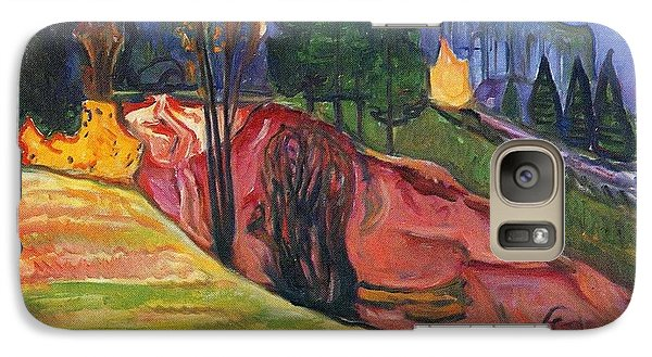 Galaxy Case featuring the painting From Thuringewald by Edvard Munch