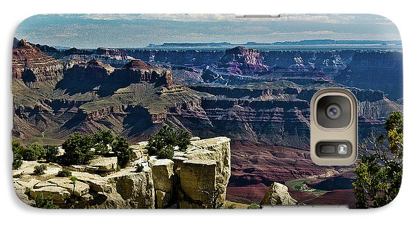 Galaxy Case featuring the photograph From Yaki Point 2 Grand Canyon by Bob and Nadine Johnston