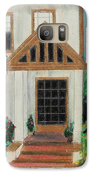 Galaxy Case featuring the painting Front Door 1 by Jeanne Fischer