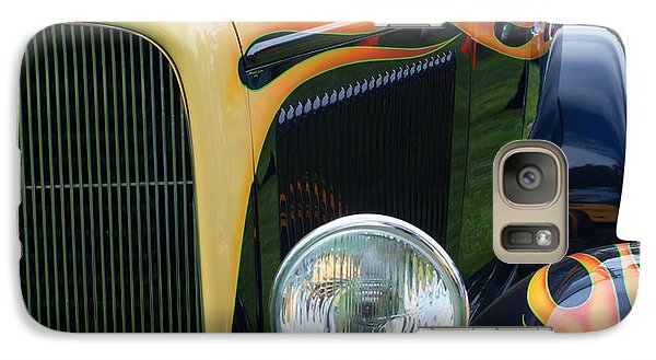 Galaxy Case featuring the photograph Front Of Hot Rod Car by Gunter Nezhoda