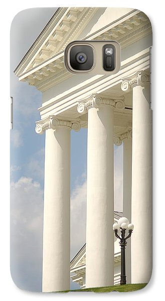 Galaxy Case featuring the photograph Front Porch Of Virginia State Capitol Richmond Va by Suzanne Powers