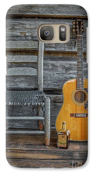 Galaxy Case featuring the photograph Front Porch Pick'n by Marion Johnson