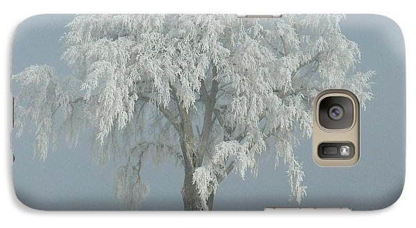 Galaxy Case featuring the photograph Frost Covered Lone Tree by Penny Meyers