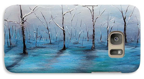 Galaxy Case featuring the painting Frost Like Ashes by Meaghan Troup