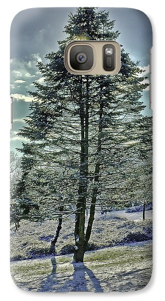 Galaxy Case featuring the photograph Frost On Pine Tree by Gary Slawsky