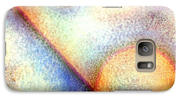 Galaxy Case featuring the painting Frosted Glass Abstract by Jessica Wright