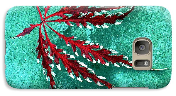 Galaxy Case featuring the photograph Frosted Japanese Maple by Nina Silver