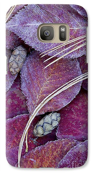 Galaxy Case featuring the photograph Frosted Leaves by Alan L Graham