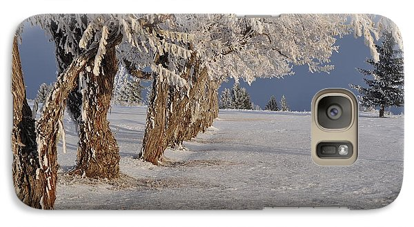 Galaxy Case featuring the photograph Frosted Trees by Fran Riley