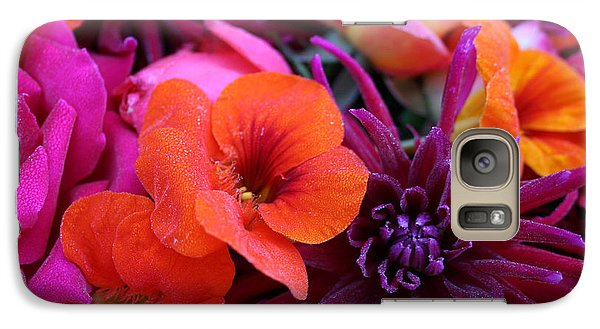 Galaxy Case featuring the photograph Dewy Blooms by Jeanette French