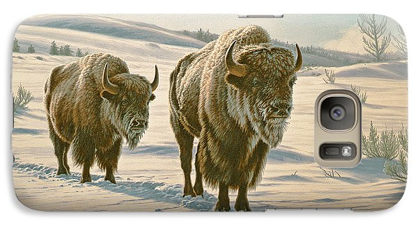 Buffalo Galaxy S7 Case - Frosty Morning - Buffalo by Paul Krapf