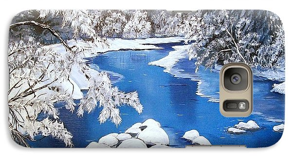Galaxy Case featuring the painting Frosty Morning by Sharon Duguay