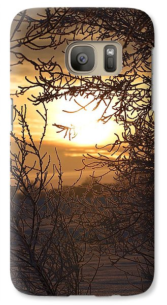 Galaxy Case featuring the photograph Frosty Sunrise by Dacia Doroff