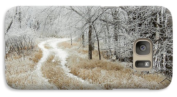Galaxy Case featuring the photograph Frosty Trail 2 by Penny Meyers
