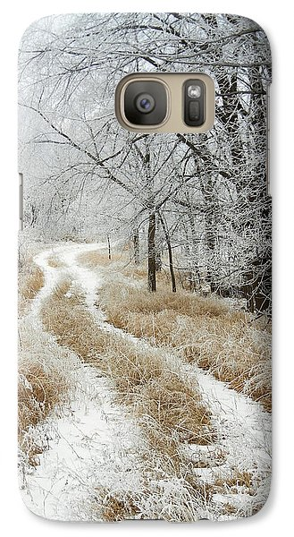 Galaxy Case featuring the photograph Frosty Trail by Penny Meyers
