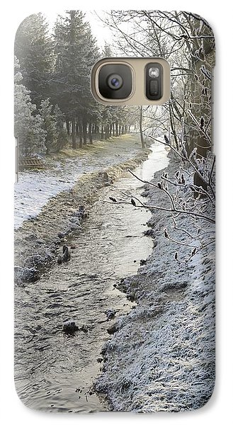 Galaxy Case featuring the painting Frozen Air by Felicia Tica