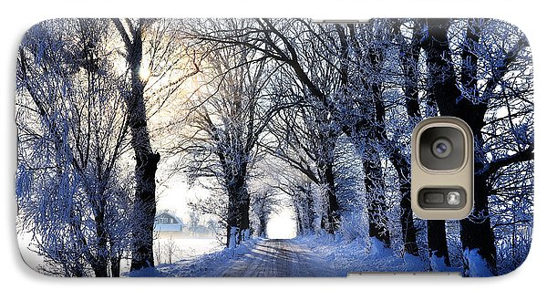 Galaxy Case featuring the photograph Frozen Alley by Kennerth and Birgitta Kullman