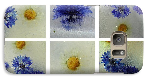 Galaxy Case featuring the photograph Frozen Blue by Randi Grace Nilsberg