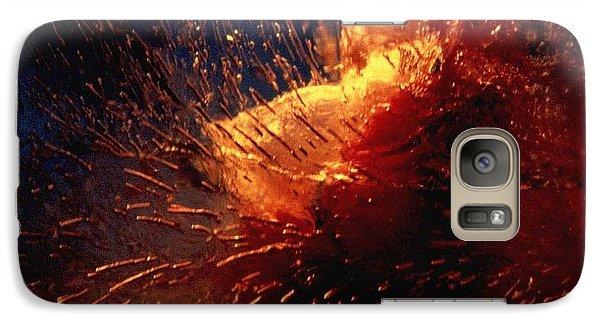 Galaxy Case featuring the photograph Frozen Carnation by Randi Grace Nilsberg