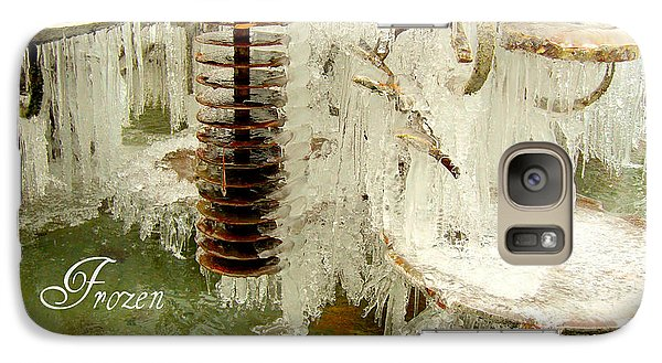 Galaxy Case featuring the photograph Frozen Cascade by Heidi Manly