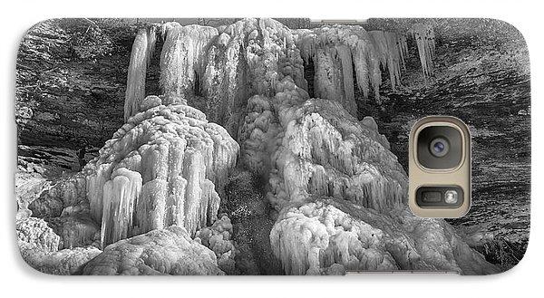 Galaxy Case featuring the photograph Frozen Cascades by Alan Raasch
