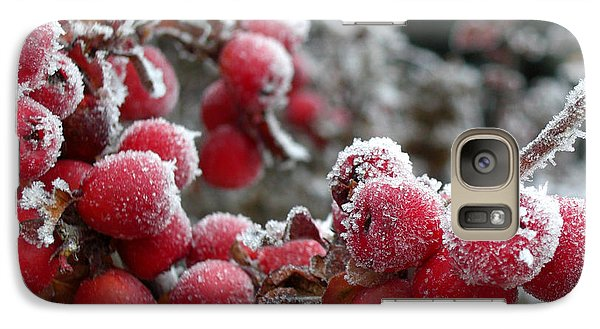 Galaxy Case featuring the photograph Frozen Crimson by Heidi Manly