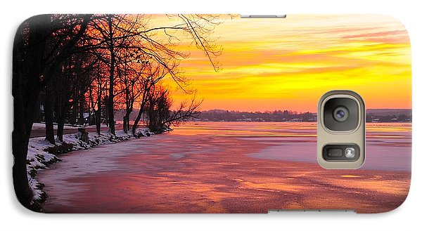 Galaxy Case featuring the photograph Frozen Dawn At Lake Cadillac  by Terri Gostola