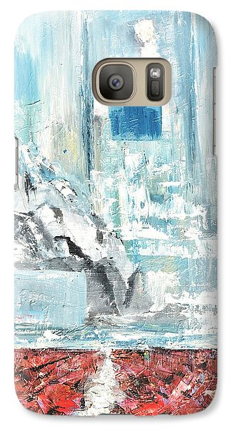 Galaxy Case featuring the painting Frozen by Evelina Popilian