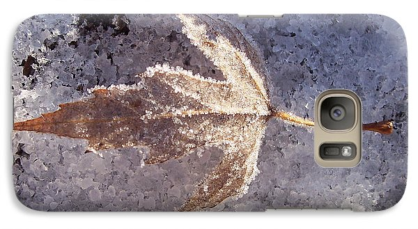 Galaxy Case featuring the photograph Frozen Leaf by Richard Bryce and Family