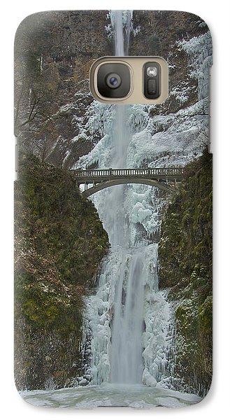 Galaxy Case featuring the photograph Frozen Multnomah Falls Ssa by Todd Kreuter
