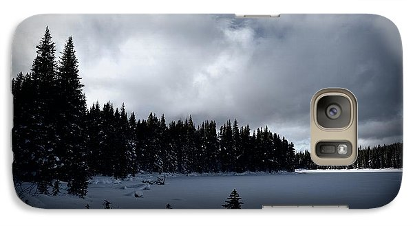 Galaxy Case featuring the photograph Frozen Nickel Plate Lake by Guy Hoffman