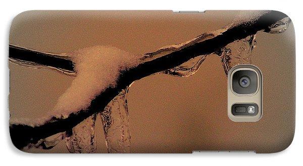 Galaxy Case featuring the photograph Frozen Rain by Karen Kersey