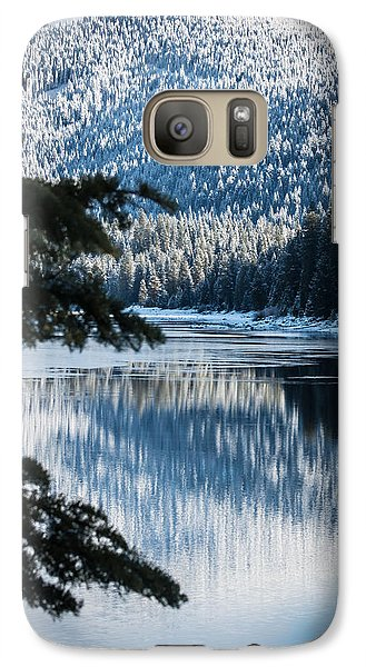 Galaxy Case featuring the photograph Frozen Reflection by Jan Davies