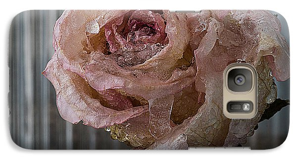 Galaxy Case featuring the photograph Frozen Rose 2 by Vladimir Kholostykh