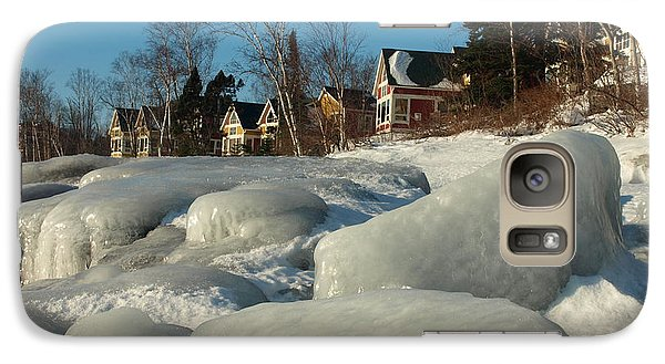 Galaxy Case featuring the photograph Frozen Surf by James Peterson