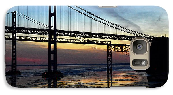 Galaxy Case featuring the photograph Frozen Waters Under The Bay Bridge by Bill Swartwout