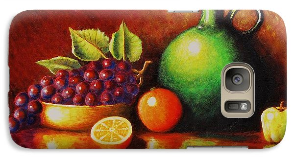 Galaxy Case featuring the painting Fruit And Jug by Gene Gregory