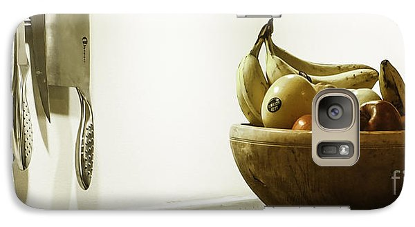 Galaxy Case featuring the photograph Fruit And Knives by Michael Canning