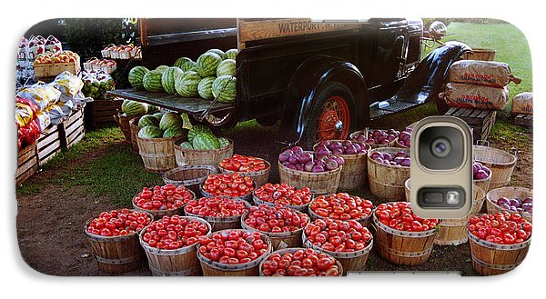 Galaxy Case featuring the photograph Fruit And Vegitable Stand Truck by Tom Brickhouse
